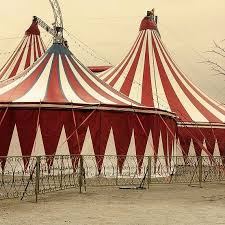 Image result for red and black circus tent