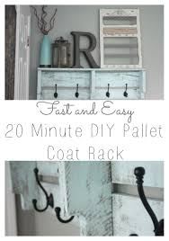 Coat Rack Shelf Diy Easy DIY Pallet Coat Rack ReFabbed 41