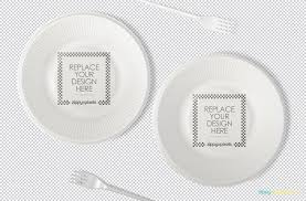 Creative Plate Designs Disposable Plate Mockup Free Psd Zippypixels