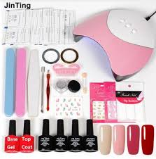 Hot JinTing Nail Tool <b>Set 36w UV</b> LED Lamp 4pcs Fixed Color Gel