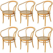 stunning bentwood dining chairs and set of six thonet 209 bentwood and cane dining chairs at