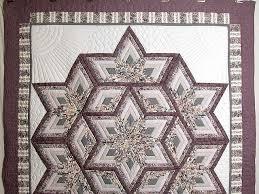 Diamond Log Cabin Star Quilt -- exquisite carefully made Amish ... & ... Lavender Diamond Log Cabin Star Quilt Photo 2 ... Adamdwight.com