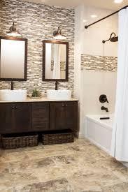 continue accent tile in shower to backsplash for vanity | Design ...