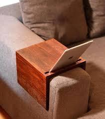 couch arm table custom sofa tray handmade wooden ikea