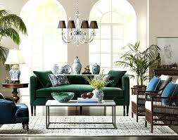 transitional living room with emerald green velvet sofa and crystal chandelier shades furniture 5 tips for