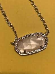 kendra scott elisa silver pendant