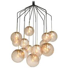 chandeliers and pendant lighting. Large U0027Spideru0027 Chandelier With 15 Spheres In Smoked Glass And Brass Chandeliers Pendant Lighting