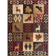 8 x large red brown and tan area rug nature rugs black