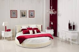 Red White Good Bedroom Colors With Oval Bed Red Scheme Bedroom Adorable Good Bedroom Ideas