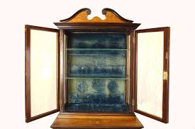 beautiful large antique display cabinet needs a bit of cleaning up from storage but in good condition perfect project very solid wood and quite