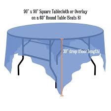 linen sizing charts discover what size tablecloths or linens you need for your event