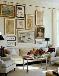 love how the art hangs from installed picture rail brabourne farm living art general living room colors for