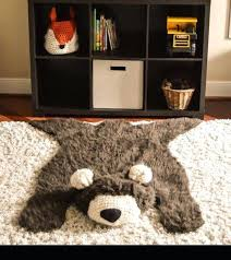 faux bear rug woodland nursery baby room decor animal pattern faux bear rug fake pattern polar