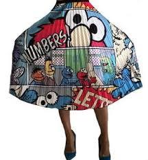 Elmo <b>Cartoon Fashion</b> Sesame Street Pleated Skirt in 2019 ...