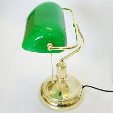 desk lamps office. Vintage Bank Table Lamps Retro Brass Bankers Lamp Green Glass Lampshade Office Study Room Desk