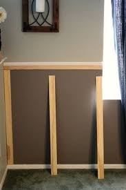 board batten style molding under existing chair rail