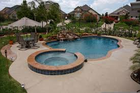inground pools with waterfalls and hot tubs. Incredible Exterior Unique Swimming Pool Designs With Waterfall For Inground Pools Waterfalls And Hot Tubs W