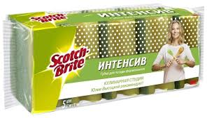 """<b>Набор</b> формованных <b>губок</b> для посуды <b>Scotch</b>-<b>Brite</b> """"<b>Интенсив</b>"""" 5 ..."""
