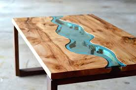 burled river coffee table unique tables cocktail unusual with storage