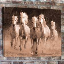 water runing horse canvas vintage retro revamp brown vignette pinterest fabulous wall art horses amazing images  on wall art pictures of horses with wall art 10 best gallery about wall art horses horse pictures on