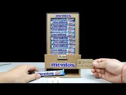 Mentos Vending Machine Awesome Wow Amazing DIY Mentos Vending Machine Using Card YouTube
