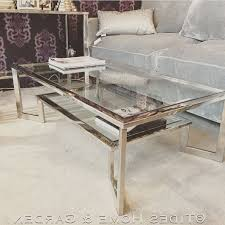cur chrome glass coffee tables with chrome and glass dual level coffee table gallery 3