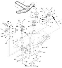 gravely 991090 010000 019999 zt 44 hd parts diagram for belts 991090 010000 019999 zt 44 hd belts spindles idlers and mower blades 44 48 ⎙ print diagram