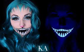 black light cheshire cat makeup w tutorial by katiealves on deviantart