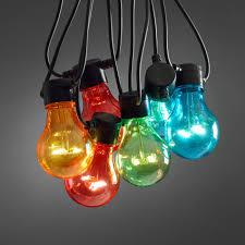 garden lighting ideas inspiration lights4fun co uk 10 multi coloured circus festoon lights