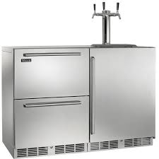 refrigerator kegerator. ft. outdoor drawer refrigerator / triple tap kegerator - stainless steel hp48rt-o-5-1r3