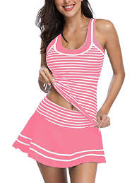 <b>Women's</b> Tankini <b>Striped Vintage</b> Swim <b>Dress</b>: Amazon.co.uk: <b>Clothing</b>