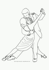 Kleurplaat Dansen Hobbyblogonl
