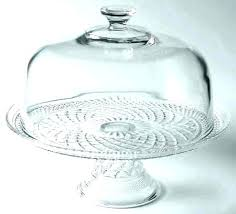 glass cake cover cake plate with dome lid glass anchor hocking pedestal stand picture cover co glass cake