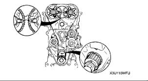 mazda 1600 twin cam require position of timing marks on cam pullies graphic