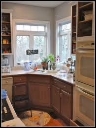 Eggshell Kitchen Cabinets Remodelaholic Beautifully Updated Kitchen With Pops Of Yellow
