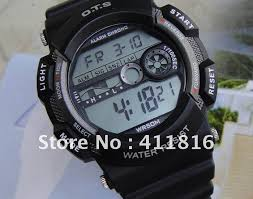 shipping unisex fashion diving watch men sports electronics shipping unisex fashion diving watch men sports digital watch silicone strap waterproof 5 colors 100% new whole retail