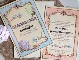 vintage style pastel wedding invitation by in the treehouse Wedding Invitations On The High Street lovely floral & bird invitations by in the tree house not on the high street wedding invitations not on the high street