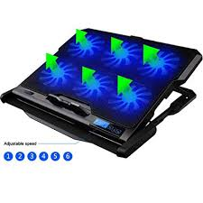 Omegaes <b>Laptop cooler</b>, Ultra-quiet Smart LCD Display Cooling ...