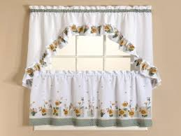 Kitchen Tier Curtains Sets Curtains Set Sheer Sunflower Kitchen Curtains Sunflower Kitchen