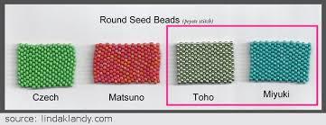 Toho Beads Color Chart Miyuki Vs Toho Seed Beads Clearlyhelena