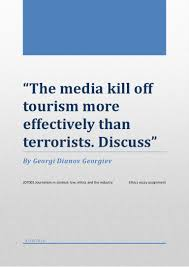 tourism essay bjc bgcse english tips for success teacher interview  the media kill off tourism more effectively than terrorists