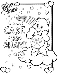 Small Picture Care bears coloring pages share bear ColoringStar