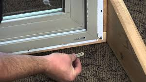 how to replace the weep hole covers on a premium vinyl patio door