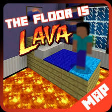 1 floor is lava map for mcpe minecraft screenshot 2