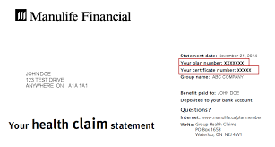 benefits card claims statement