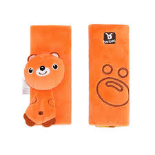 cartoon animal infant baby soft harness car seat belt strap cover pads universal reversible strap covers