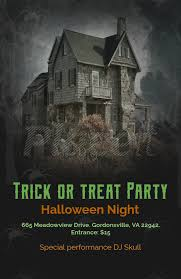 Flyers Theme Online Flyer Maker With Haunted House Theme 123d