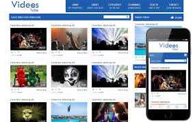 Video Website Template Beauteous Videostube Video Gallery Mobile Website Template By W28layouts