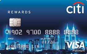 citibank rewards platinum visa card credit card
