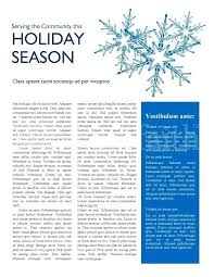Word Newsletter Template Free Holiday Christmas Microsoft